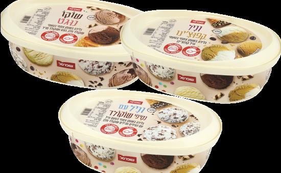 שופרסל גלידה מותג פרטי