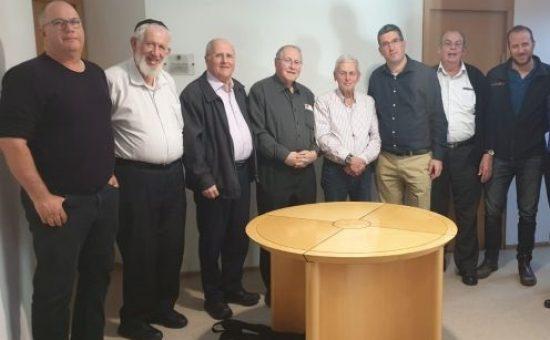 שלמ משמאל- יואב יגול, שלום קליין, זבולון אורלב, אליקים רובינשטיין, אפריים לפיד, אבי וורצמן,שלמה בורקש, רז פרוייליך