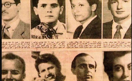 שמנית המרגלים בפרשה - צילום עיתונות ערבית