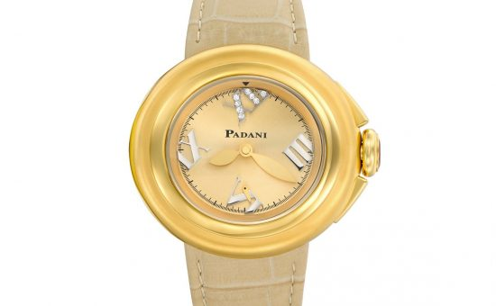 שעון פדני ליידי 2,180 שח , ציפוי זהב משובץ יהלומים בלוח רומי, צילום חול...