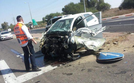 אילוסטרציה: תאונה בדרום -קרדיט איחוד הצלה (6)