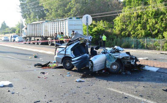 תאונת דרכים קטלנית בכפר יונה. צילום: חטיבת דובר המשטרה