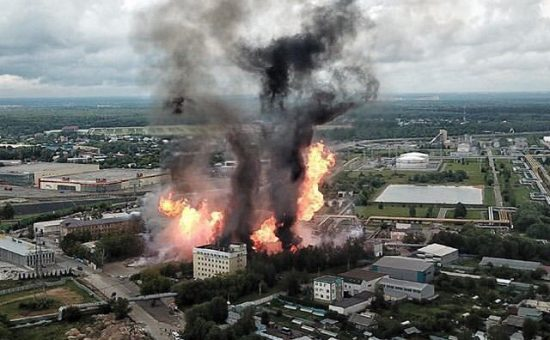 פיצוץ בתחנת כוח חשמלית ברוסיה