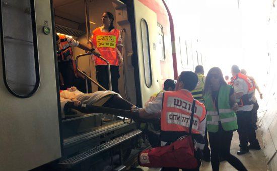 תרגיל שריפה בקו הרכבת המהיר לירושלים - צילום יששכר וייס תיעוד מבצעי מדא 3.9.18