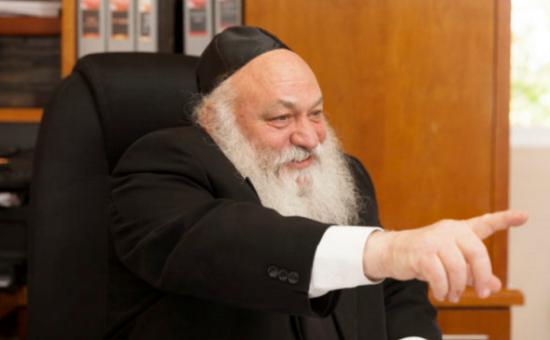 הרב יצחק  גולדקנופף, צילום: פישל רוזנפלד