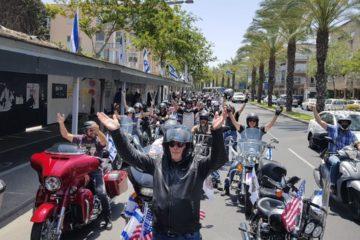 300 אופנועים: צפו בשיירת 'קבלת פנים' לנשיא טראמפ