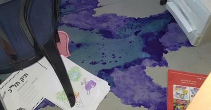 בליל ראש השנה: ונדליזם בבית הספר בקריית הספר