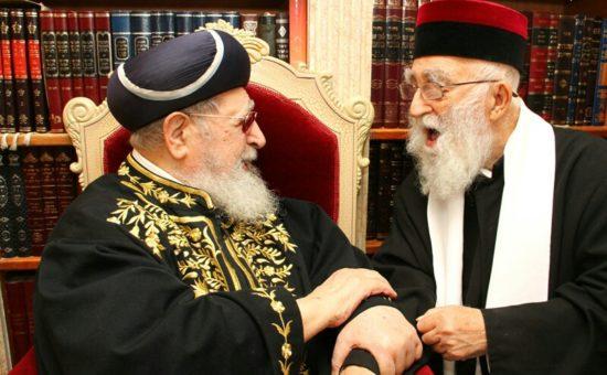 הרב מאמאן עם הרב עובדיה
