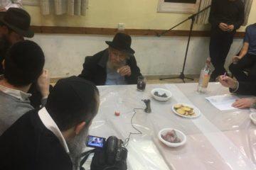 """הרב שטיינזלץ בהתוועדות י""""ט כסלו"""