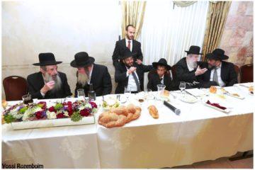 חברי המועצות, רבנים ואישי ציבור בבר מצווה לבן הרב שמואל צברי