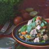 בורגול וירקות צלויים בליווי טונה מעושנת