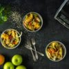 מתכונים באווירה סתווית: סלט שומר, גזר ותפוחי עץ, משקה בננה תמר ושייק פטל רענן