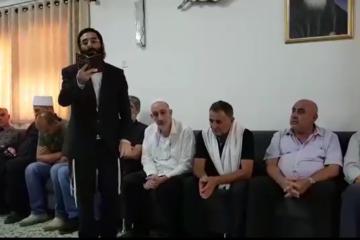 מרגש: החזן החרדי שהגיעה לבית השוטר הדרוזי ונשא תפילה