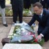 נשיא פולין המבקר בישראל עלה לקברו של יוני נתניהו