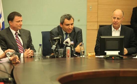 הנגבי, אלקין ואדלשטיין. צילום: אתר הכנסת