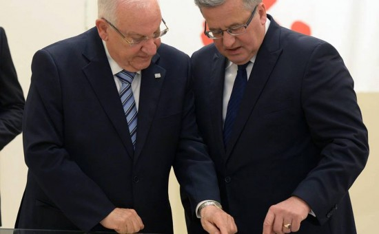 """הנשיא רובי ריבלין בפולין. צילום: מארק ניימן, לע""""מ"""