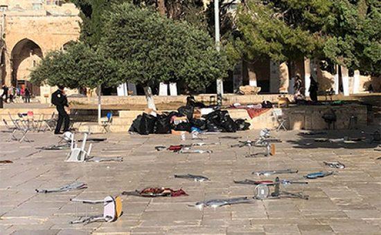 התפרעויות בהר הבית, צילום: דוברות משטרת ישראל