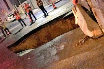 בני ברק: הכביש קרס ברחוב הראשי
