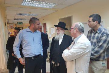 ליצמן הגיע עם הנשיא לבקר את הפצועים