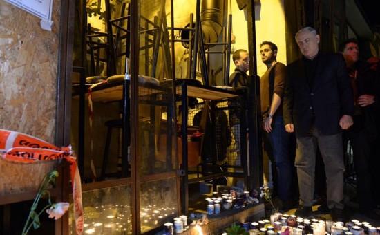 """ראש הממשלה נתניהו מבקר לפני שבוע במקום הפיגוע בת""""א. צילום: חיים צח, לע""""מ"""