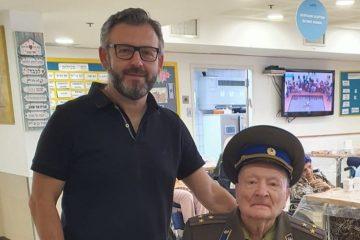 בן 94 חגג בבני ברק את הנצחון על הנאצים