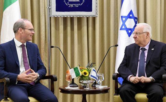 ראובן ריבלין בפגישה עם שר החוץ של אירלנד, סיימון קובני