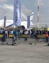 """""""העתיד כבר כאן"""": מטוס הדרימליינר נחת בישראל"""