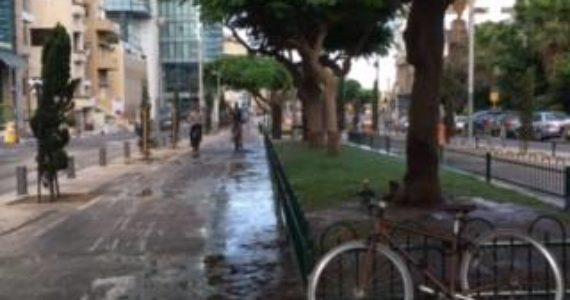 """תושבי תל אביב זועמים: """"במדרכה ברחוב לא ניתן ללכת, גובל בסכנה של החלקה"""""""