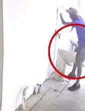 צפו: הגנב נפצע בבריחה – הדם הסגיר אותו