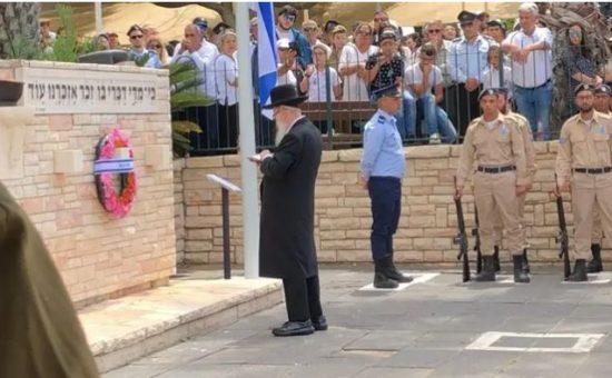 יעקב ליצמן בטקס אזכרה