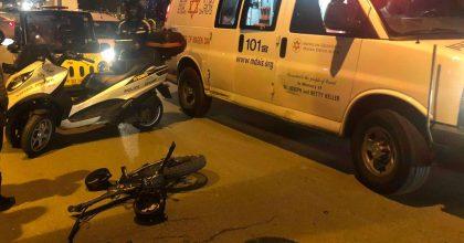 בני ברק: פצוע קשה בתאונה עם אופניים