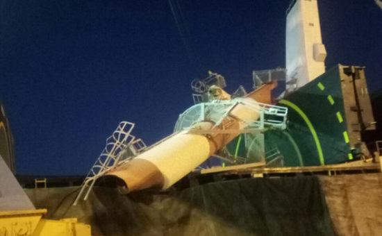 המנוף שהתמוטט בנמל אשדוד