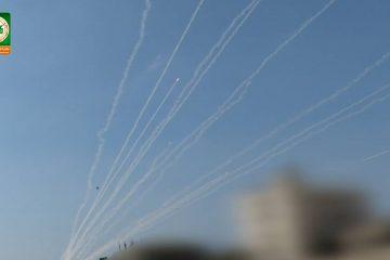 תיעוד מבהיל: עשרות שיגורים לאור יום מעזה