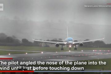 תיעוד מקרוב: המטוס נחת בסערה – באלכסון