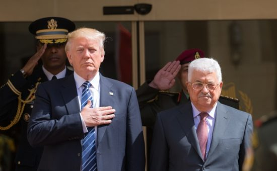 טראמפ ואבו מאזן