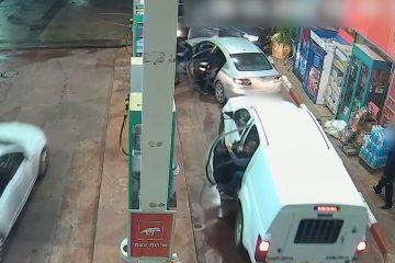 צפו: בן 18 שדד פעמיים תחנת דלק