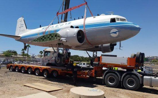 מטוס הדקוטה מועבר ל'רמון'