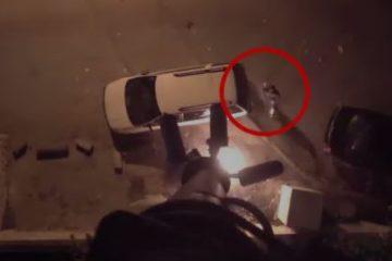 תיעוד: ניסה להצית מצלמת משטרה