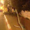 צפו: נהג האוטובוס פגע בעמוד חשמל שנפל על החיילת