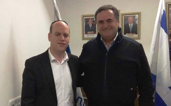 יעקב וידר עם שר התחבורה