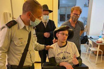 מרגש: הפצוע אנוש חגג עם מפקד ״נצח יהודה״