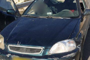 נתפס נוהג ללא רשיון ברכב ש'הורד מהכביש'