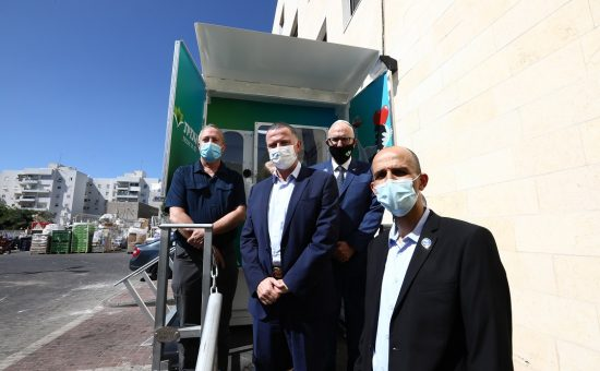 שר הבריאות יולי אדלשטיין ב'לאומית אשדוד'