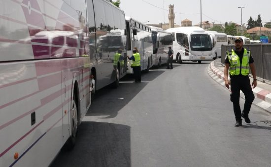 שיירת אוטובוסים