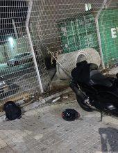 פרץ לתחנת המשטרה לגנוב אופנוע