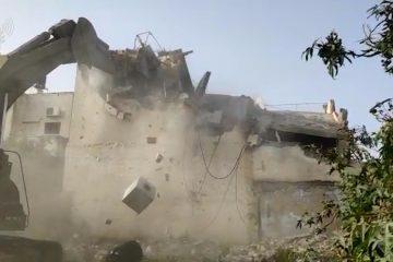 תיעוד: הריסת בית המחבל שרצח את הרב אטינגר ואת גל קיידאן
