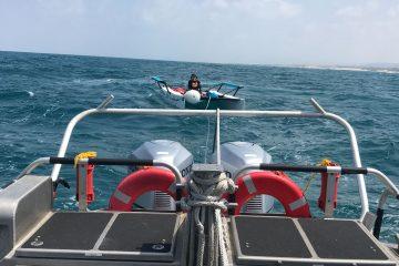 צפו: השוטרים חילצו משפחה מלב ים