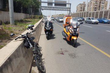 בן 50 נפצע בתאונה עם אופניים חשמליים