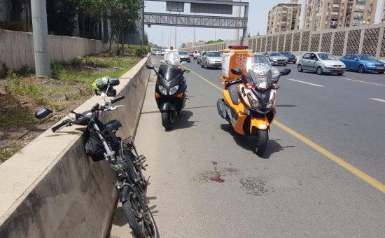תאונה עם אופניים חשמליים, צילום: איחוד הצלה