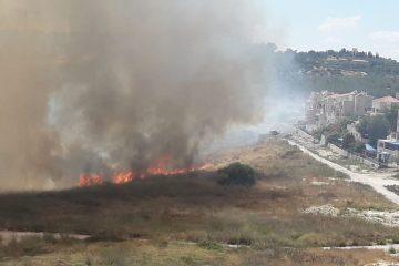 שריפת ענק בפאתי השכונות של בית שמש